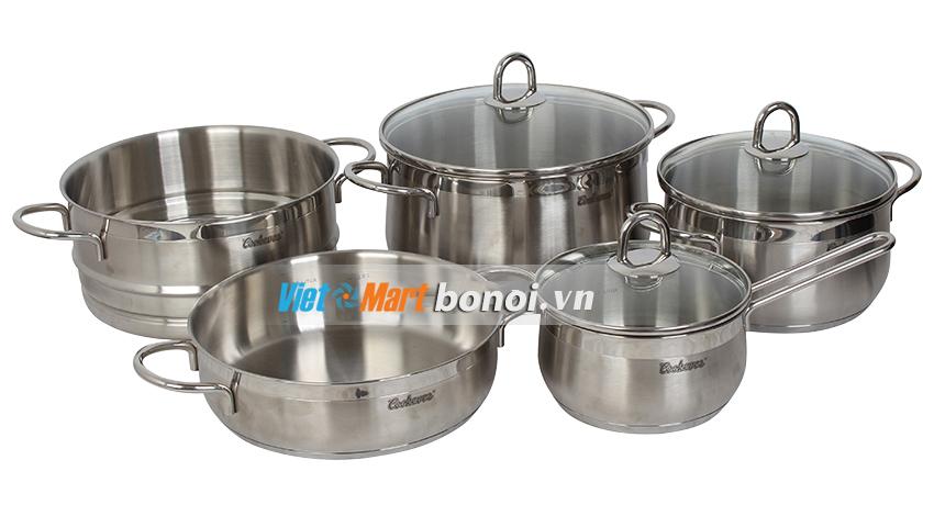 Bộ nồi Inox cao cấp Cookever 6 món nhập khẩu Hàn Quốc