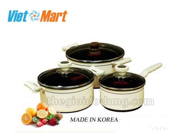 Bộ nồi Cookqueen Hàn Quốc 3 chiếc chống dính