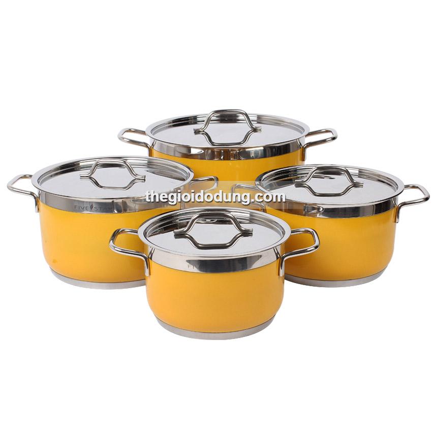 Bộ nồi FiveStar 4 chiếc màu vàng