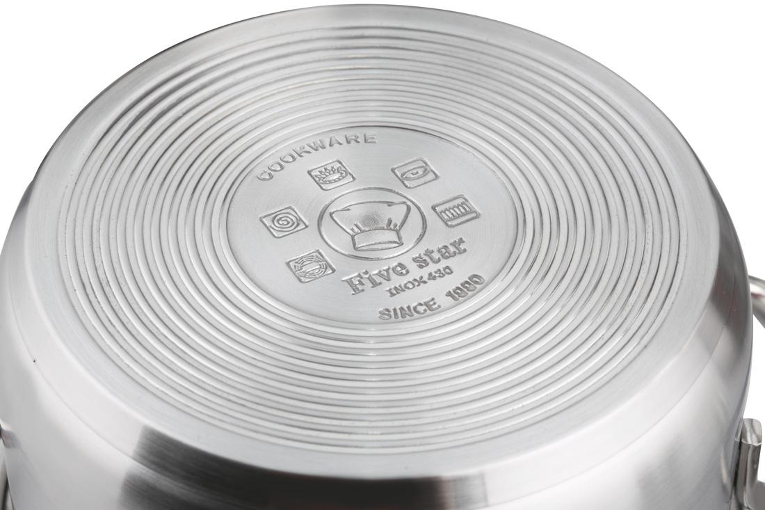 Bộ nồi Fivestar 4 chiếc đáy xoắn giúp hấp thụ nhiệt tốt hơn