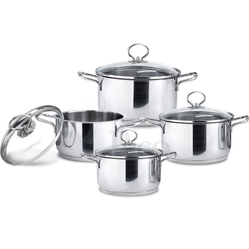 Sản phẩm có 4 chiếc với 4 kích cỡ đa dạng cho việc nấu nướng