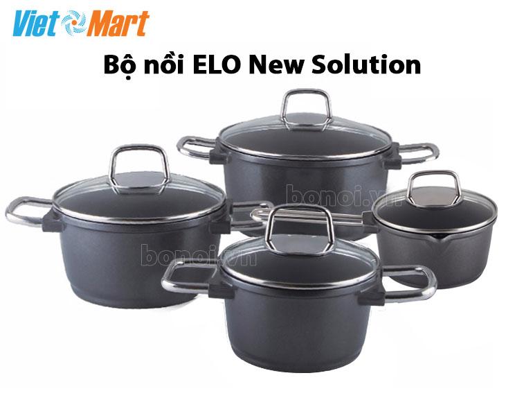Bộ nồi bếp từ Elo New Solution 4 chiếc chống dính