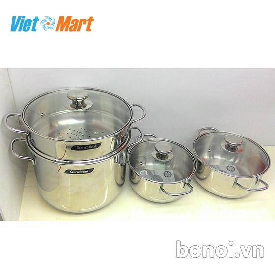 Bộ nồi bếp từ Barazzoni Bonita nhập khẩu