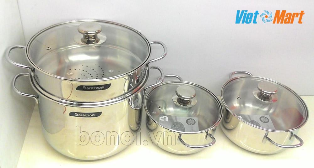 Bộ nồi bếp từ Barazzoni Bonita