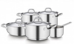 Bộ nồi inox Barazzoni Chef Line 9 món nhập khẩu Italia