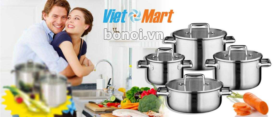 Bộ nồi nấu bếp từ của Đức dùng tốt bền đẹp