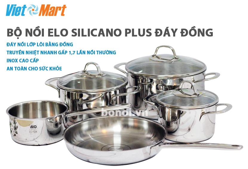 Bộ nồi bếp từ cao cấp Silicano Plus đáy đồng
