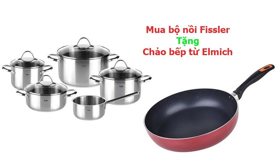 Mua bộ nồi Fissler tặng chảo bếp từ 28cm Elmich
