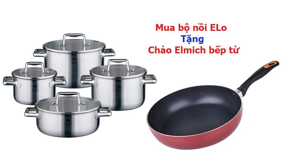 Mua bộ nồi bất kỳ của Elo tặng chảo bếp từ cao cấp