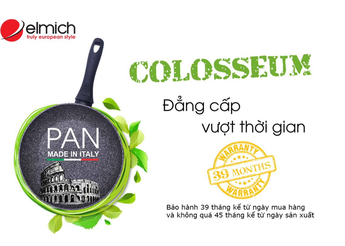 Chảo Elmich Colosseum chống dính bếp từ 28cm nhập khẩu của ITALY có 7 lớp chống dính nhập khẩu Italya