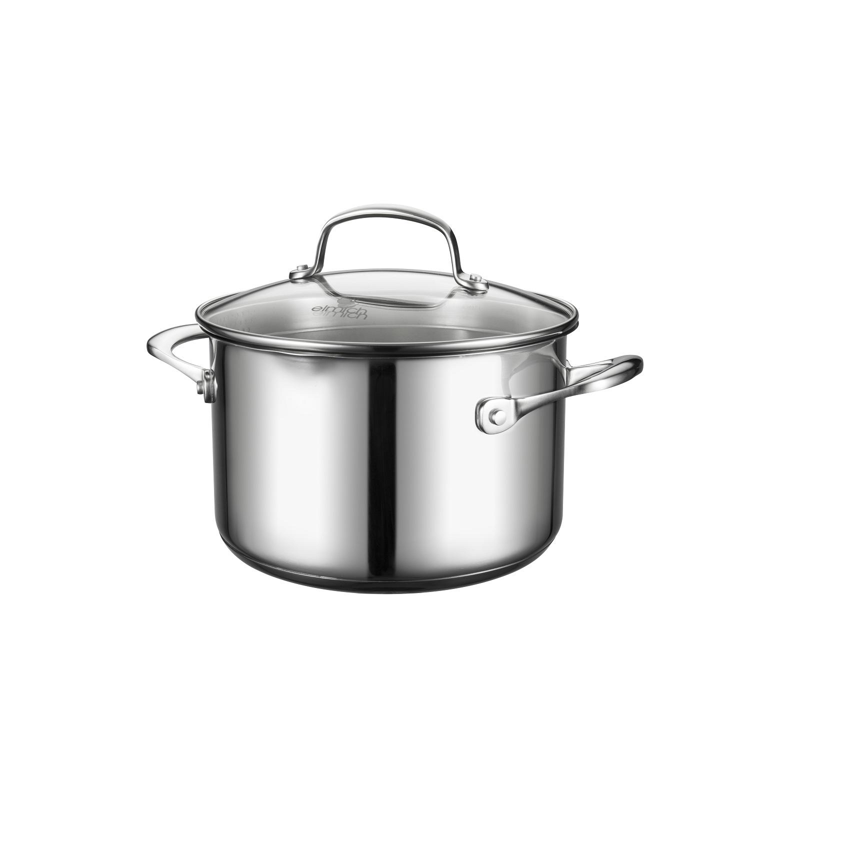 Bộ nồi chảo inox Elmich Premium EL-3134 có nồi 20 cm giúp bạn nấu nướng dễ dàng hơn