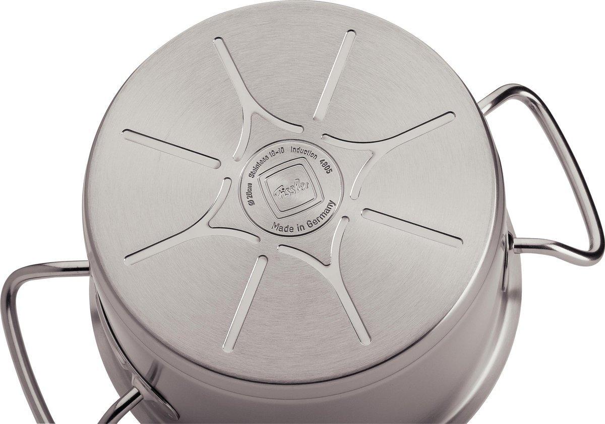 Đáy nồi Fissler Original Profi công nghệ CookStar chống cong vênh truyền nhiệt đều, và nhanh
