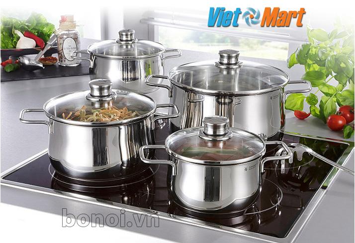 Bộ nồi inox WMF Diadem Plus 4 chiếc dùng cho bếp từBộ nồi inox WMF Diadem Plus 4 chiếc dùng cho bếp từ