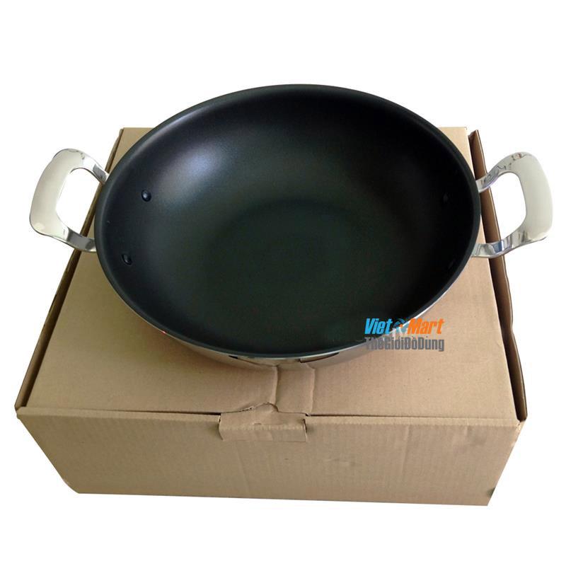 Bộ chảo xửng hấp Edelkochen 28cm Hàn Quốc lòng chống dính có thể rán thực phẩm