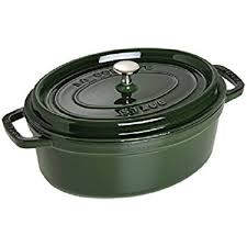Nồi-Staub-Cocotte Olive Green 31cm oval