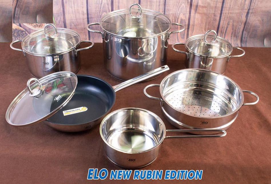 Bộ nồi ELO New Rubin Edition 6 món có xửng hấp